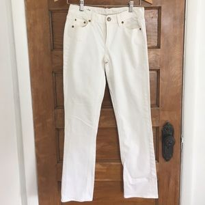J.Crew Matchstick Cropped Low-rise White Jeans
